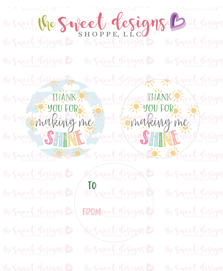 "Thank you for making me SHINE - Instant Download 2"" Round Tag"