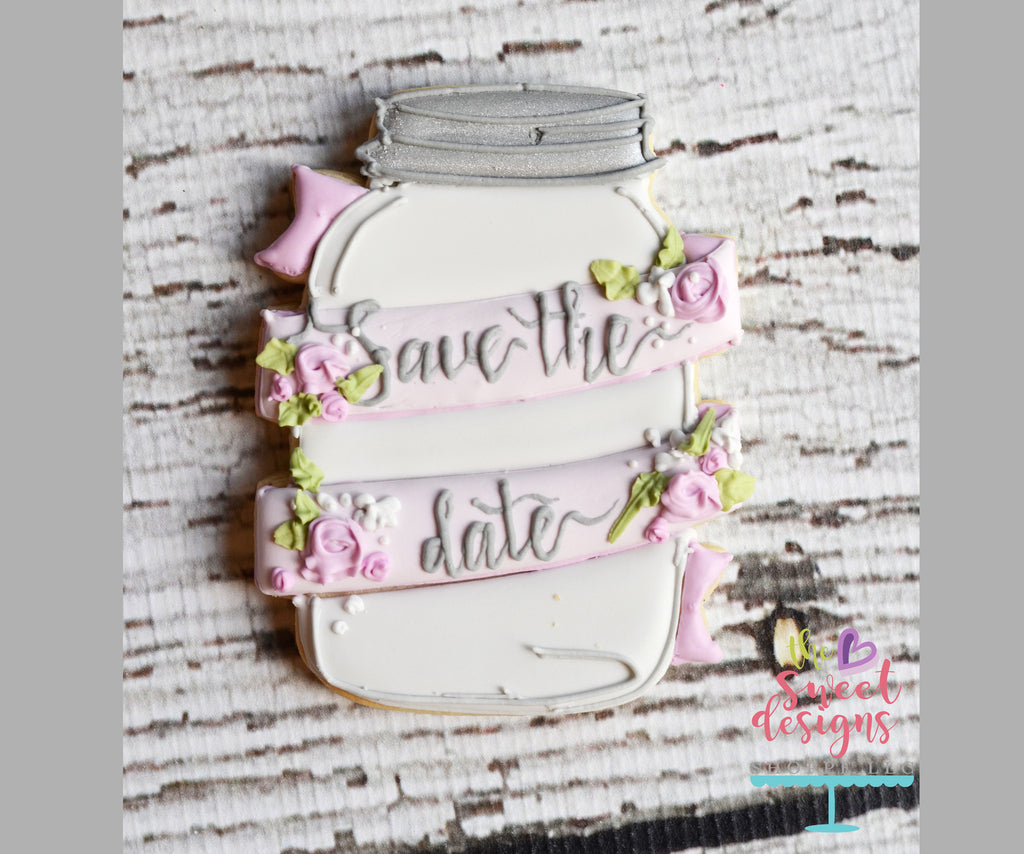 Mason Jar with Wrapped Ribbon - Cutter