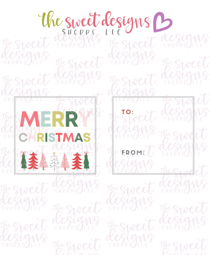"MerryChristmas #4 - Instant Download 2"" x 2"" Tag"