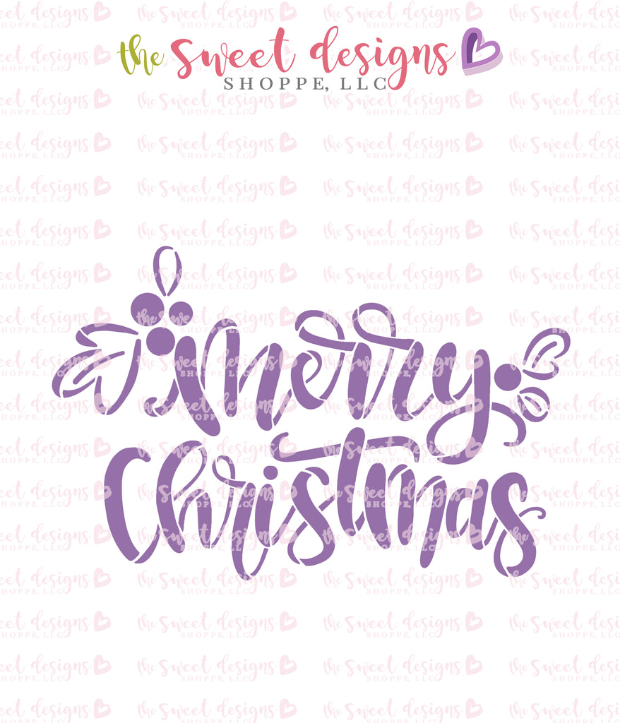 Merry Christmas Handlettering Stencil