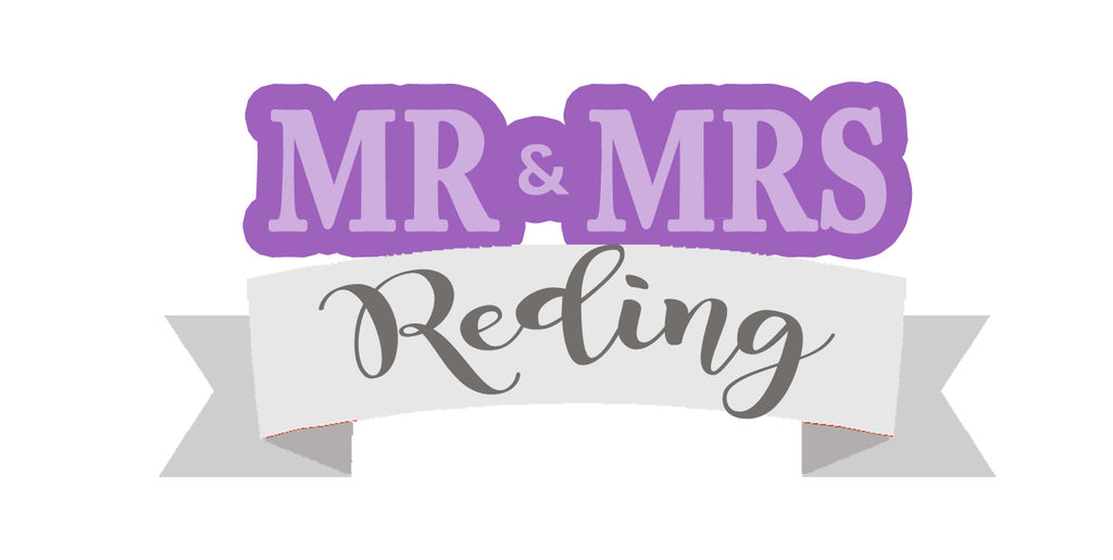 Mr & Mrs Plaque with Ribbon - Cutter