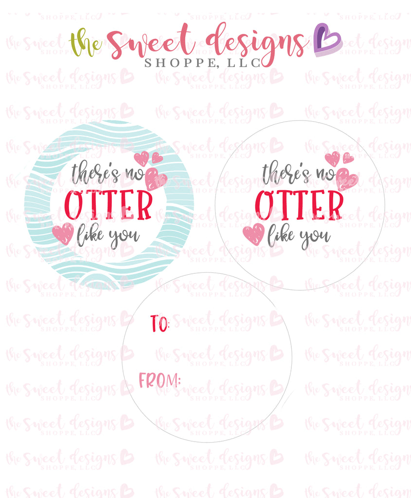 "Otter lke you - Instant Download 2"" Round Tag"