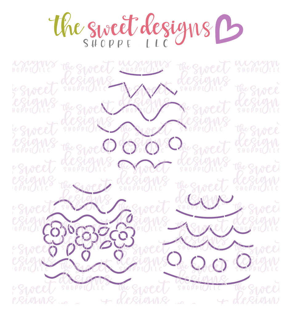 PYOC Easter Eggs (Set of 3) - Stencils