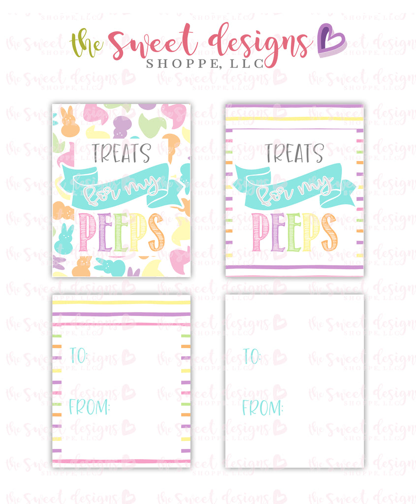 "Peeps - Instant Download 2"" x 2.5"" tag"