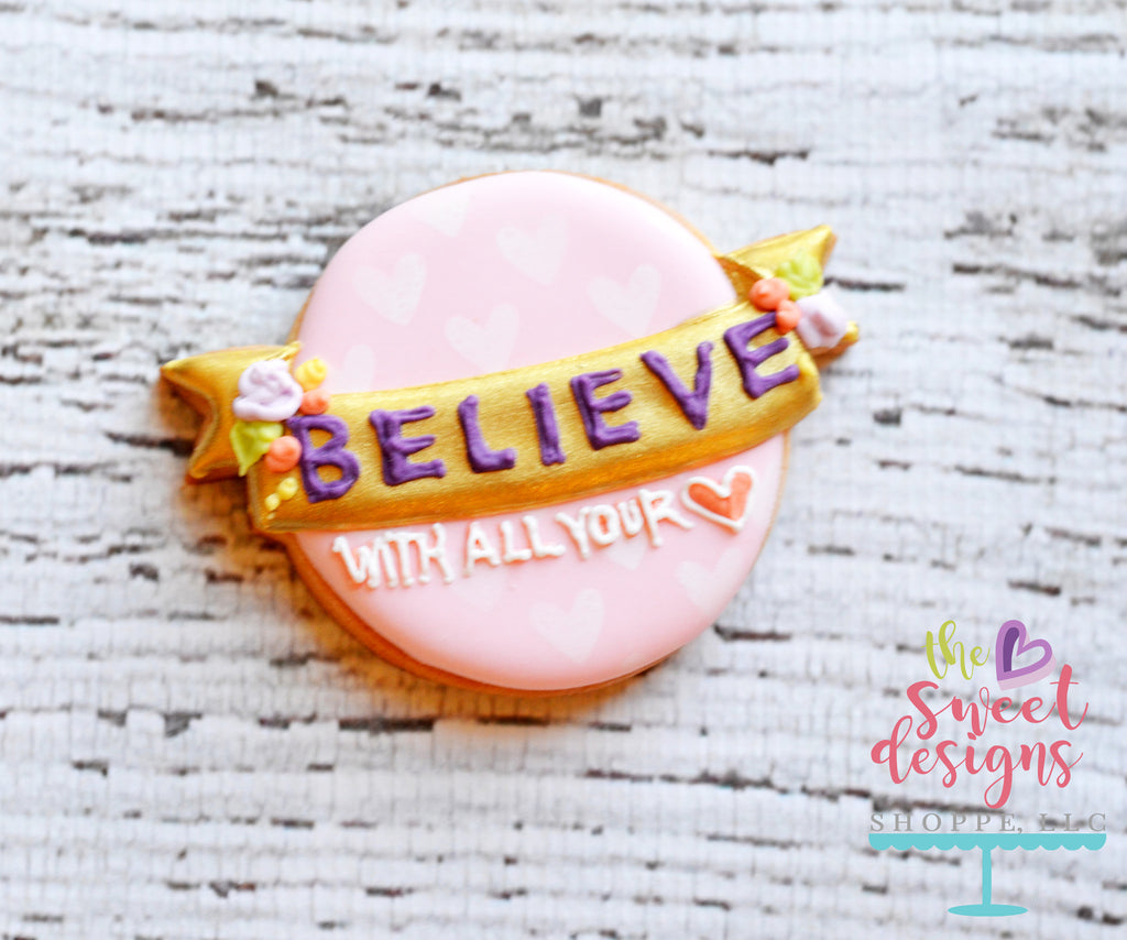 Believe Plaque - Cutter