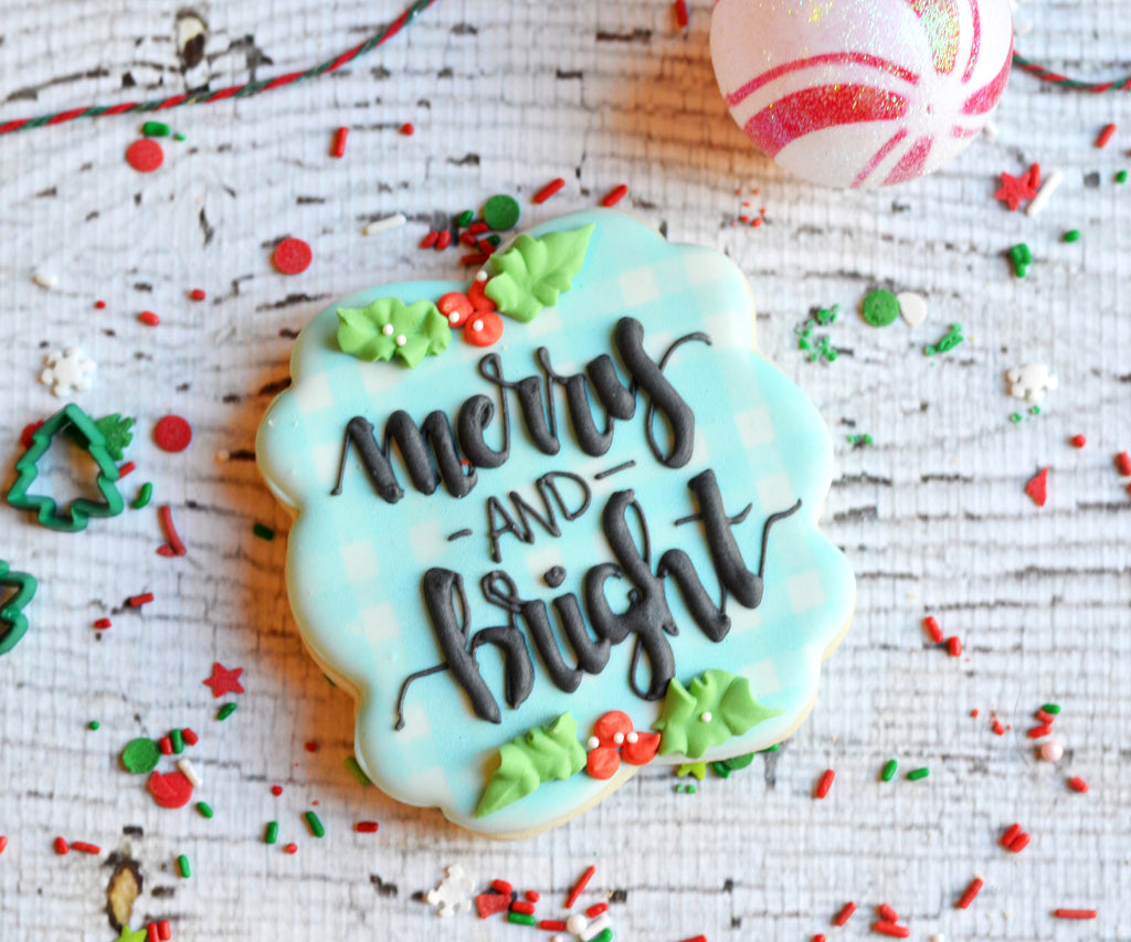 Merry and Bright Plaque - Cutter
