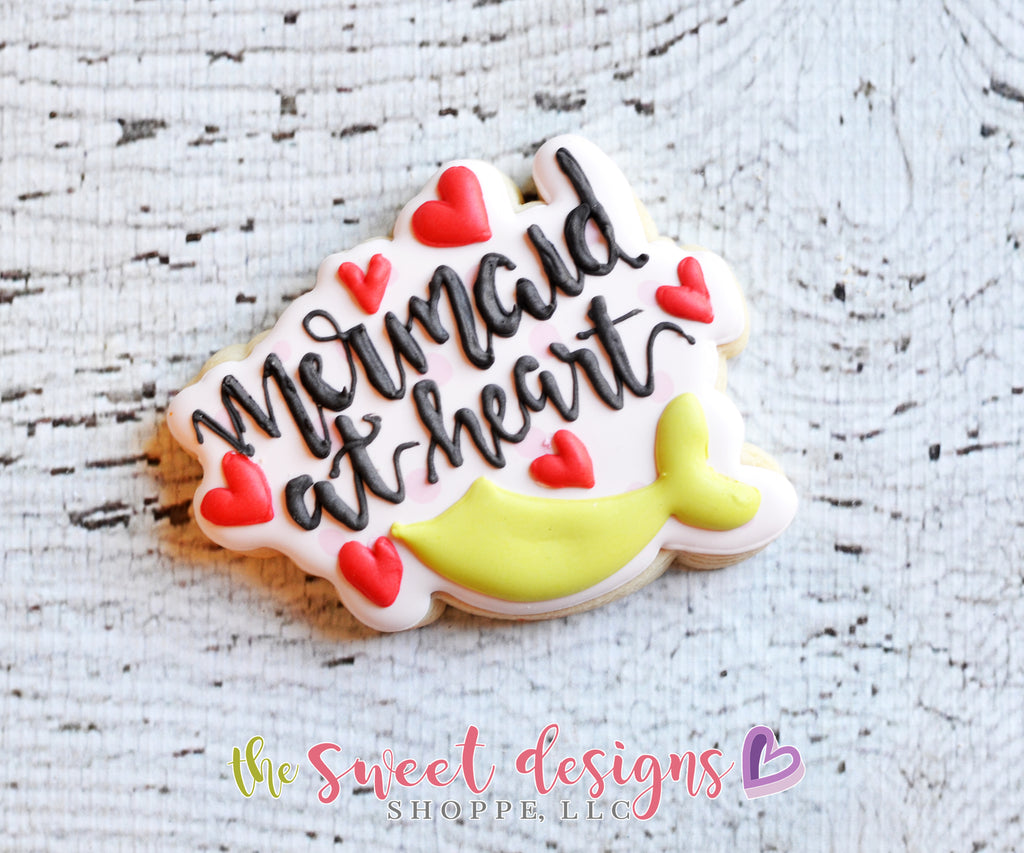 Mermaid Heart Plaque - Cutter
