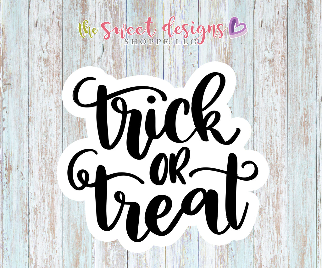 Trick or Treat Plaque - Cutter