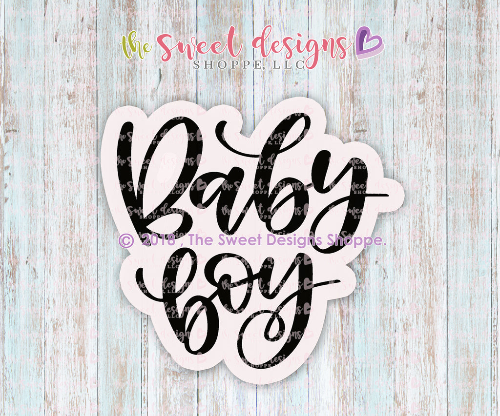 Baby Boy Plaque - Cutter