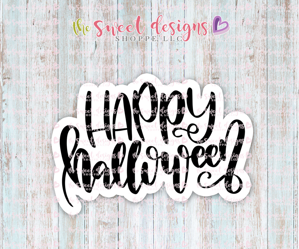 Happy Halloween Plaque - Cutter