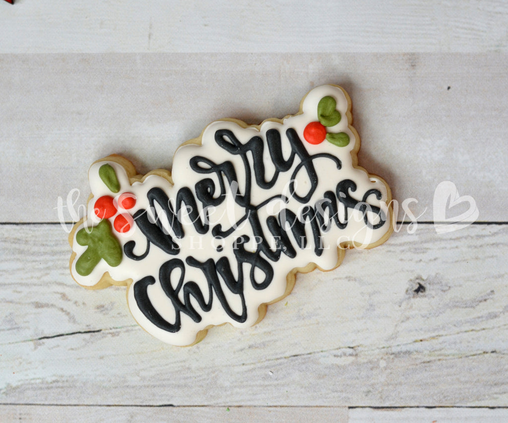 Merry Christmas Hand Lettering Plaque - Cutter