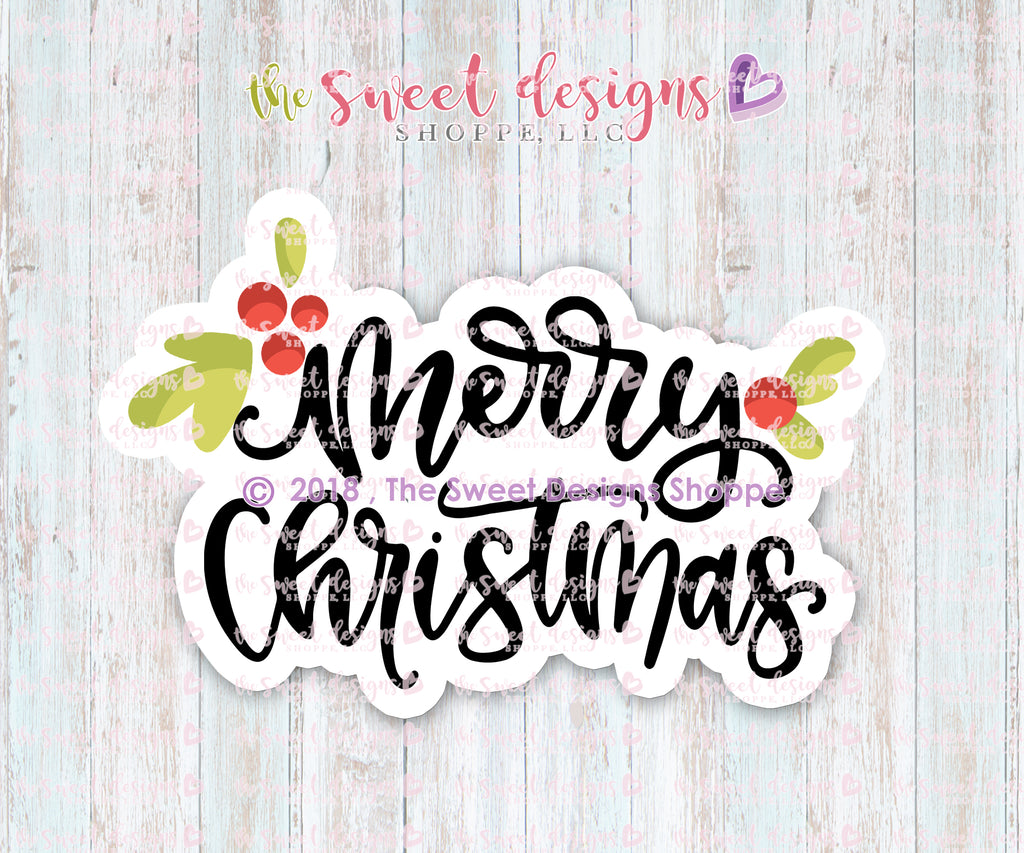 Merry Christmas Hand Lettering Plaque
