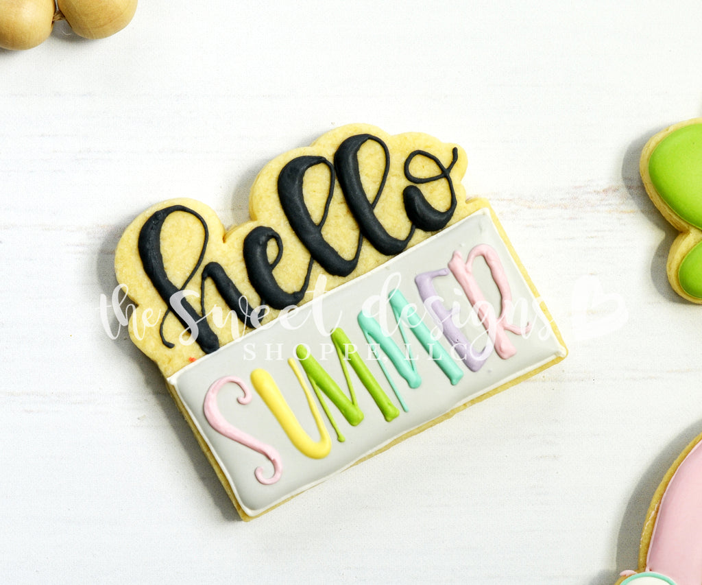 Hello Summer Plaque - Cutter