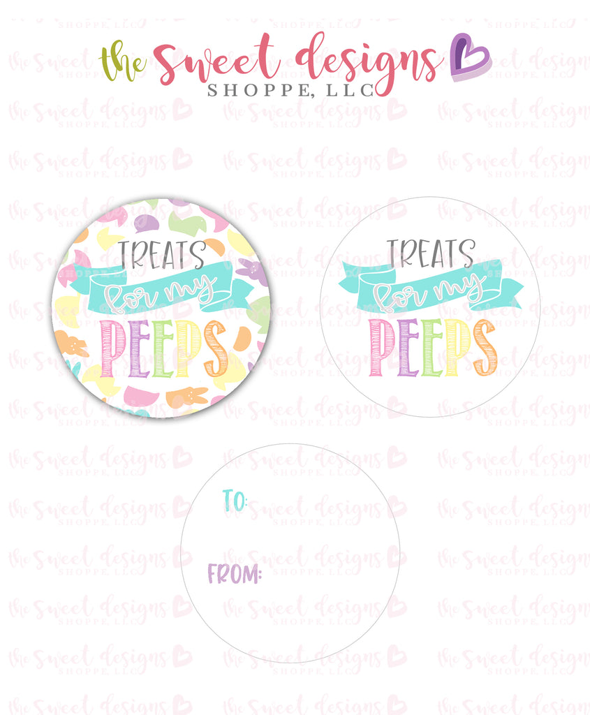 "Peeps  - Instant Download 2"" Round Tag"