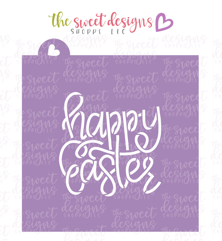 Happy Easter Handlettering  - Stencil