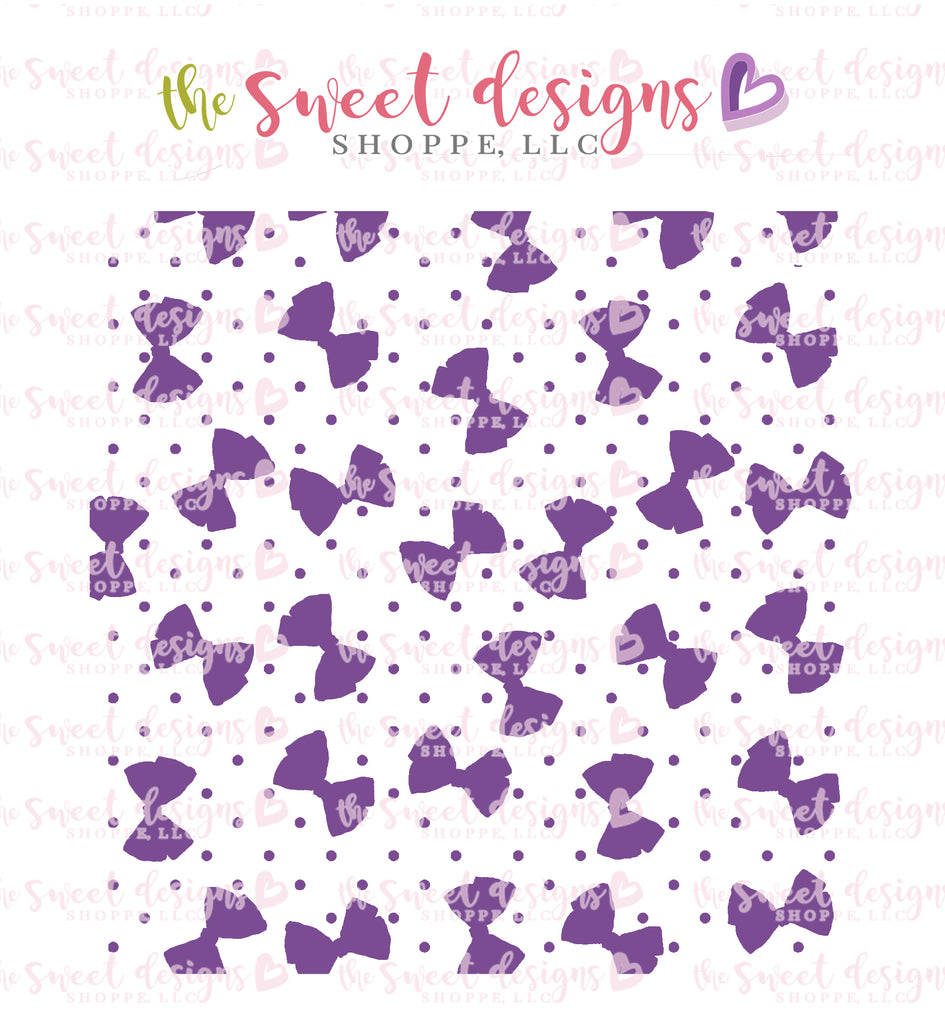 Bows and Dots Stencil