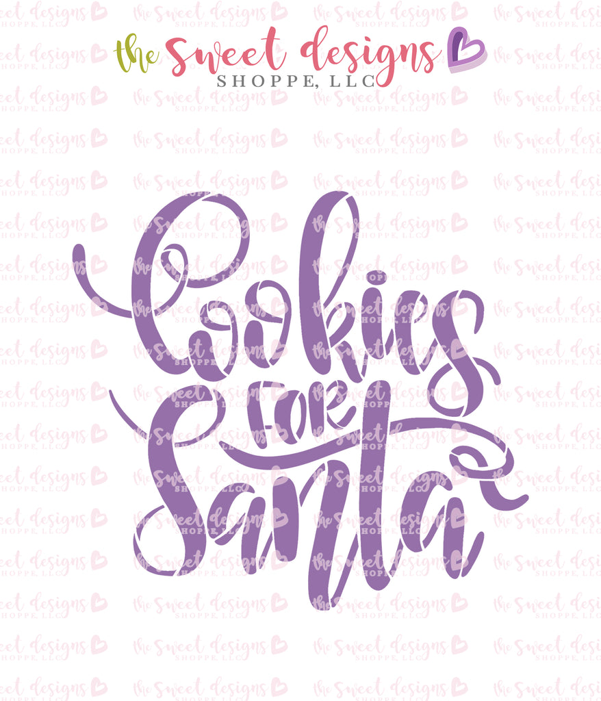 Cookies for Santa Handlettering Stencil