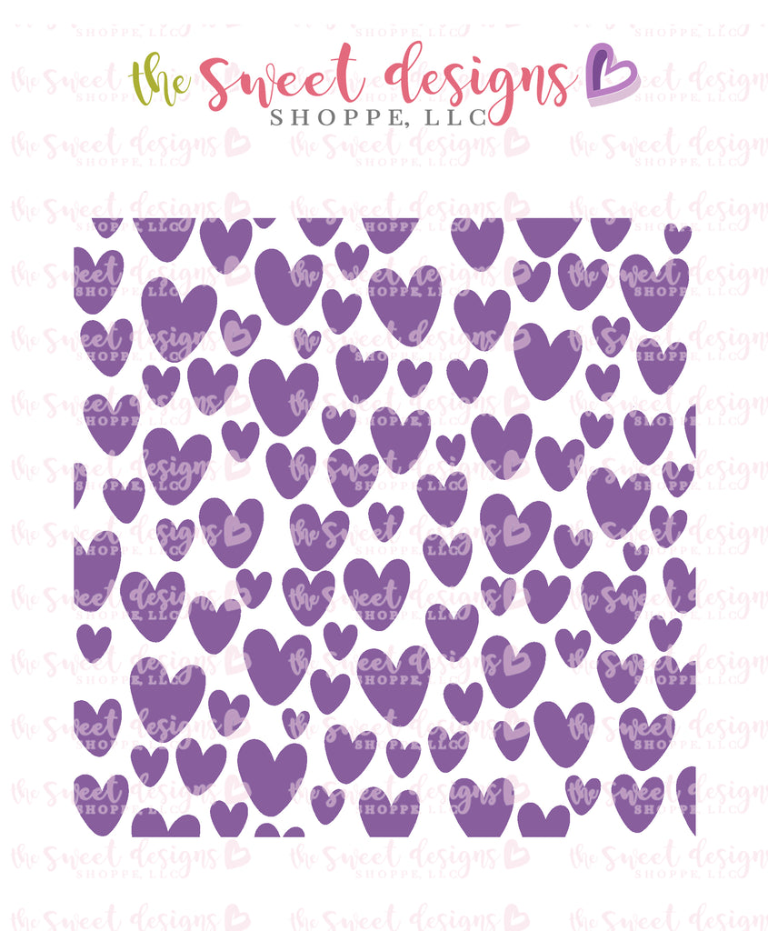 "Freehand Hearts Stencil - For ""Mini"" Hearts"