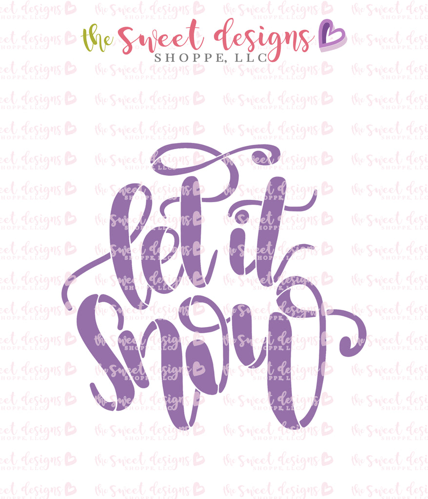 Let it Snow Hand Lettering Stencil