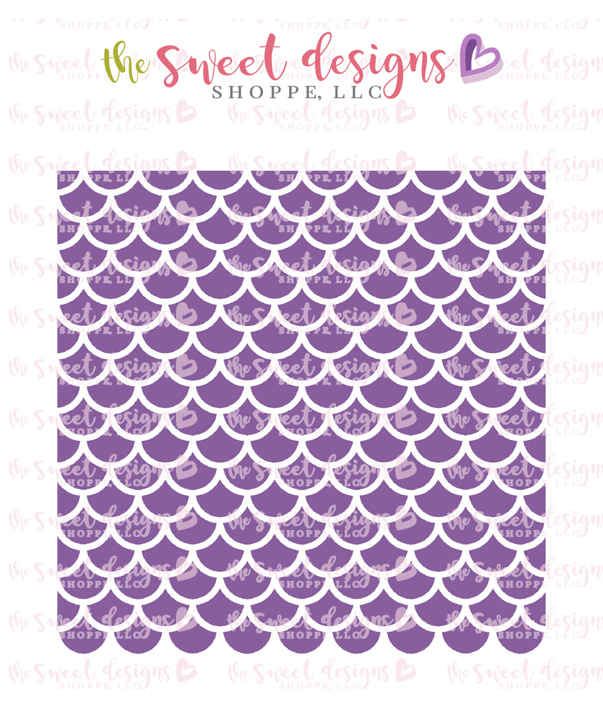 Mermaid Scale Pattern - Stencil