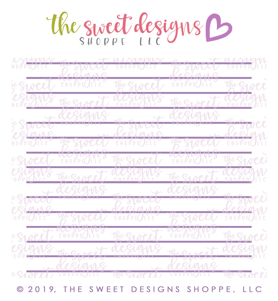 College Lined / Ruled Paper  Stencil Set (2 Stencils)