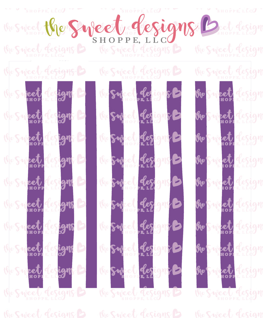 Free Hand Stripes Scale #3 - Stencil