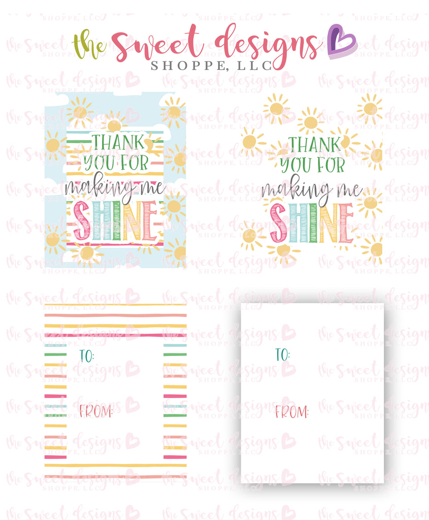 "Thank You for making me SHINE - Instant Download 2.5"" x 2"" tag"