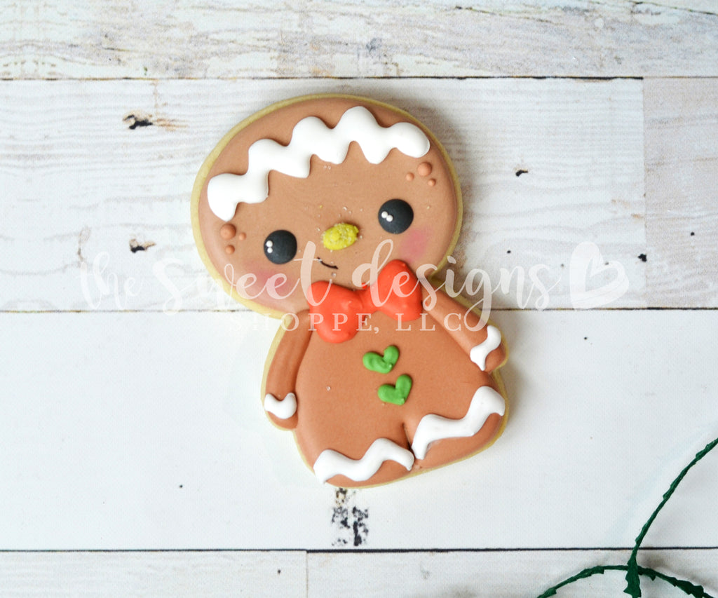 Cute Gingerboy / Snowman 2018 - Cutter
