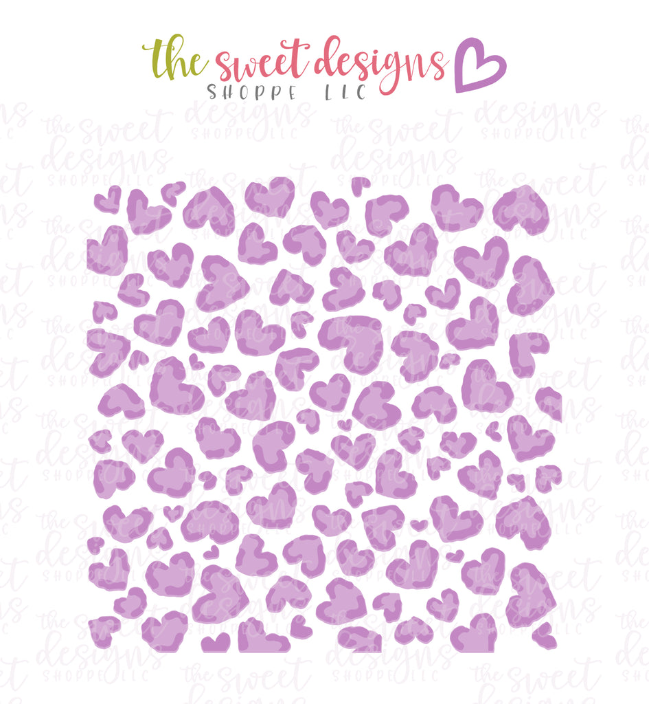 Leopard Hearts (Set of 2) - Stencils