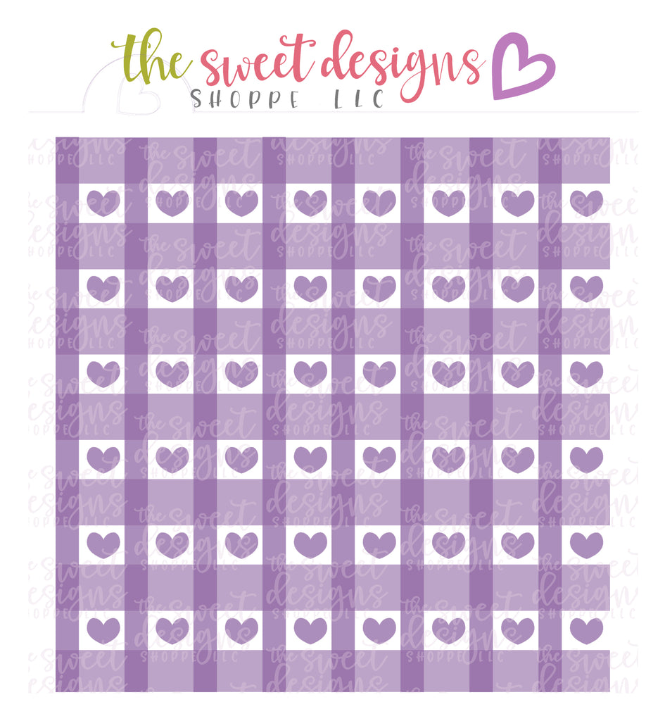 Hearts Plaid (Set of 3) - Stencils
