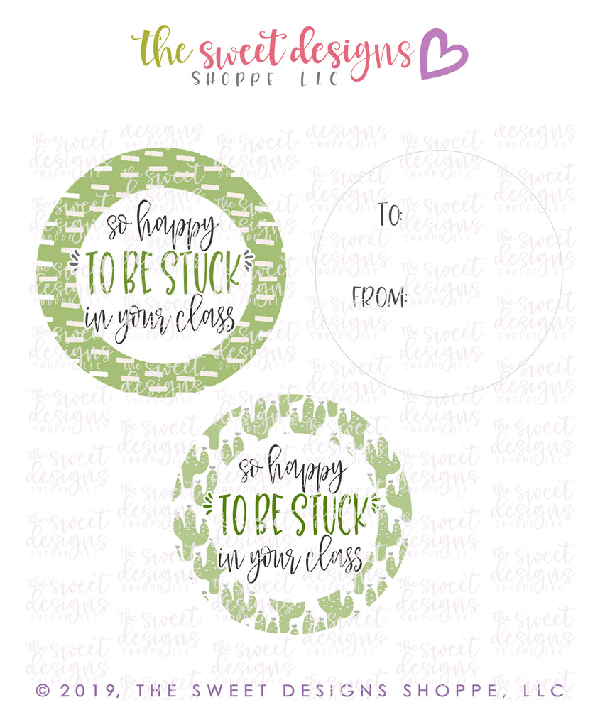 "Stuck With You -  Instant Download 2"" Round Tag"