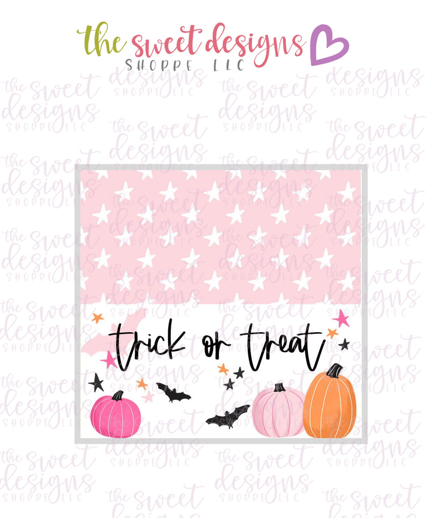 Trick or Treat #1  - Instant Download Topper 3""
