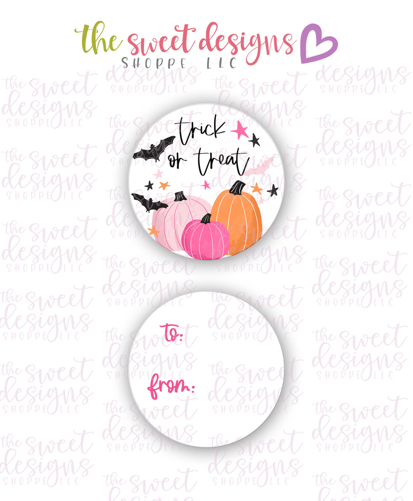 "Trick or Treat #1 -  Instant Download 2"" Round Tag"