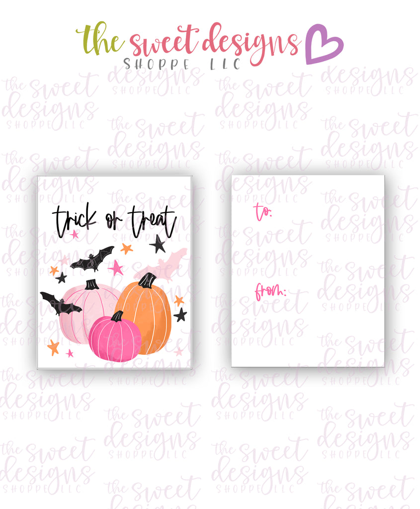"Trick or Treat #1 - Instant Download 2"" x 2.5"" tag"