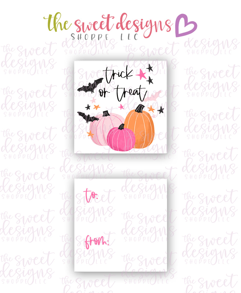 "Trick or Treat #1 - Instant Download 2"" x 2"" Tag"