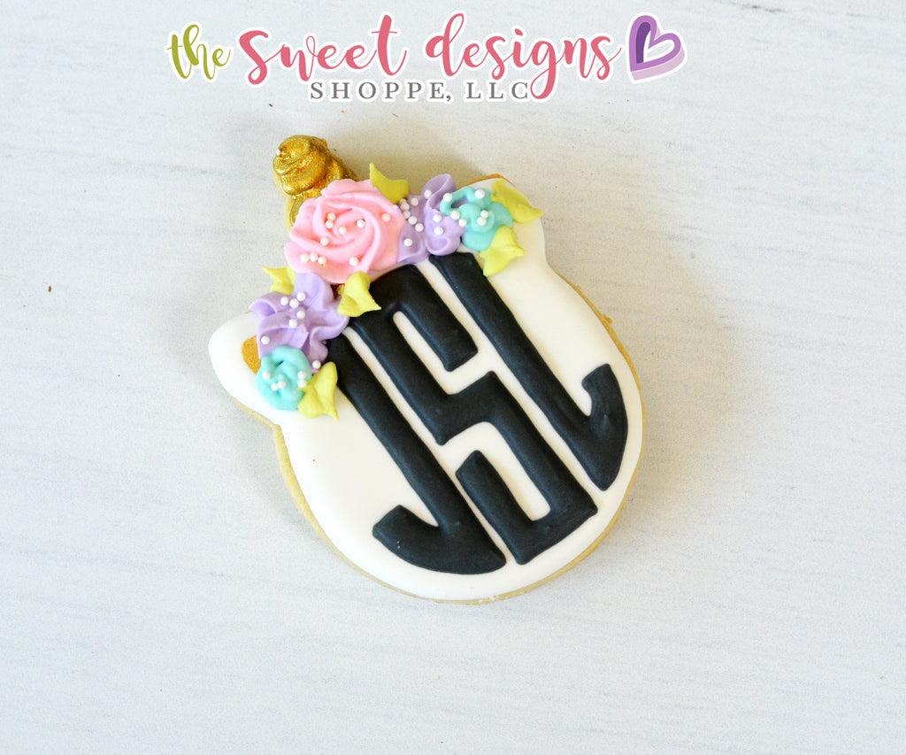 Monogram Unicorn Plaque - Cutter