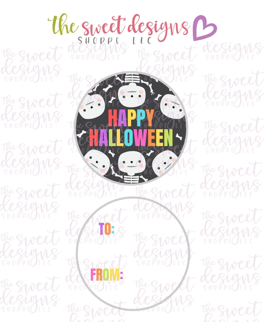 "Happy Halloween #3 -  Instant Download 2"" Round Tag"