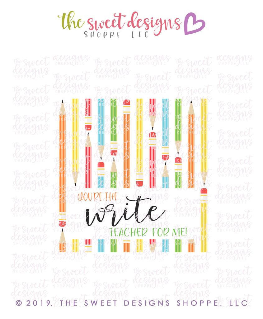 """Write"" Teacher - Instant Download Topper 3"""