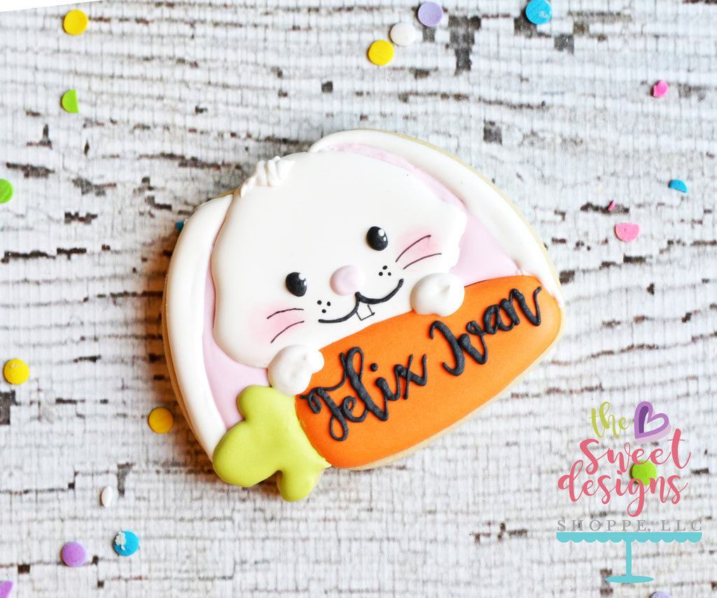 Cute Bunny and Carrot Plaque