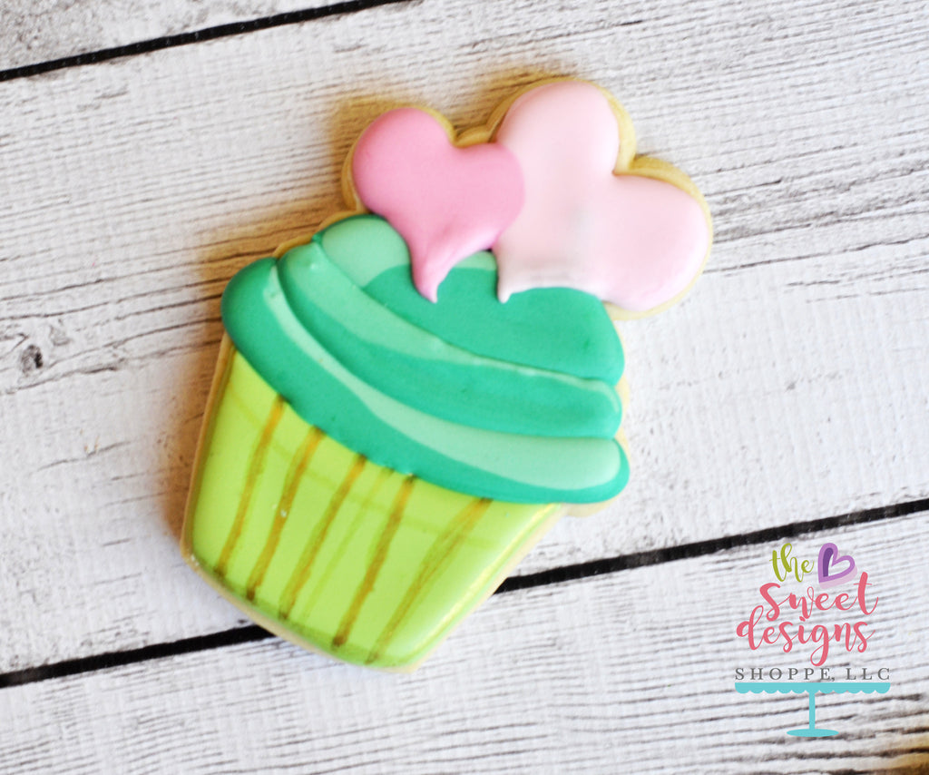 Cupcake with Hearts v2- Cutter