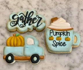 Melissa's Simply Sweet Fall Online Class  - Set of 3 Cutters and 2 Stencils