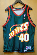 Load image into Gallery viewer, VIintage Champion Sonics Kemp Jersery (Reversible)