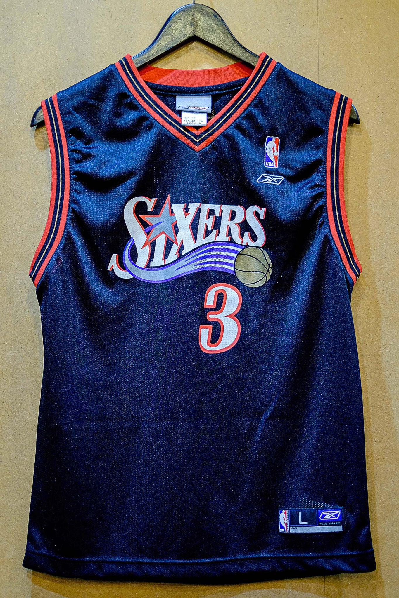 Vintage Reebok Sixers Iverson Jersey
