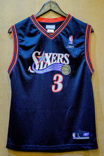 Load image into Gallery viewer, Vintage Reebok Sixers Iverson Jersey