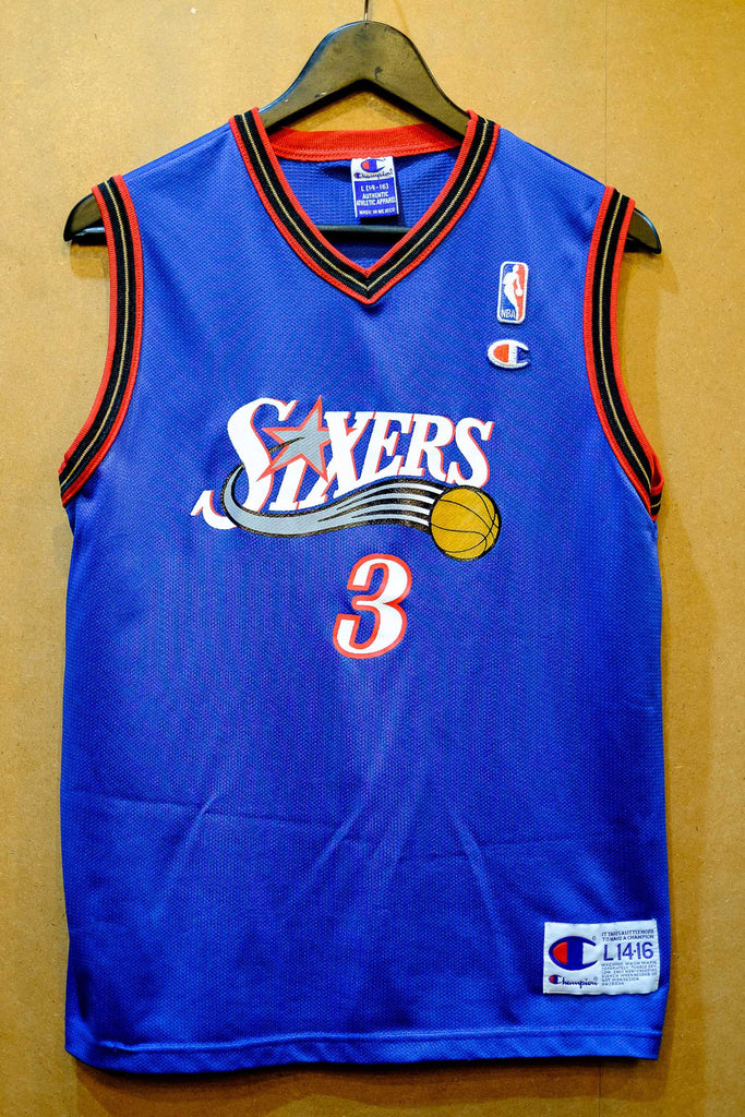 pretty nice f4b7a 73ae1 Vintage Champion Sixers Iverson Jersey