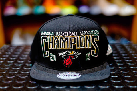 Adidas Miami Heat 2013 Back to Back Championship Cap