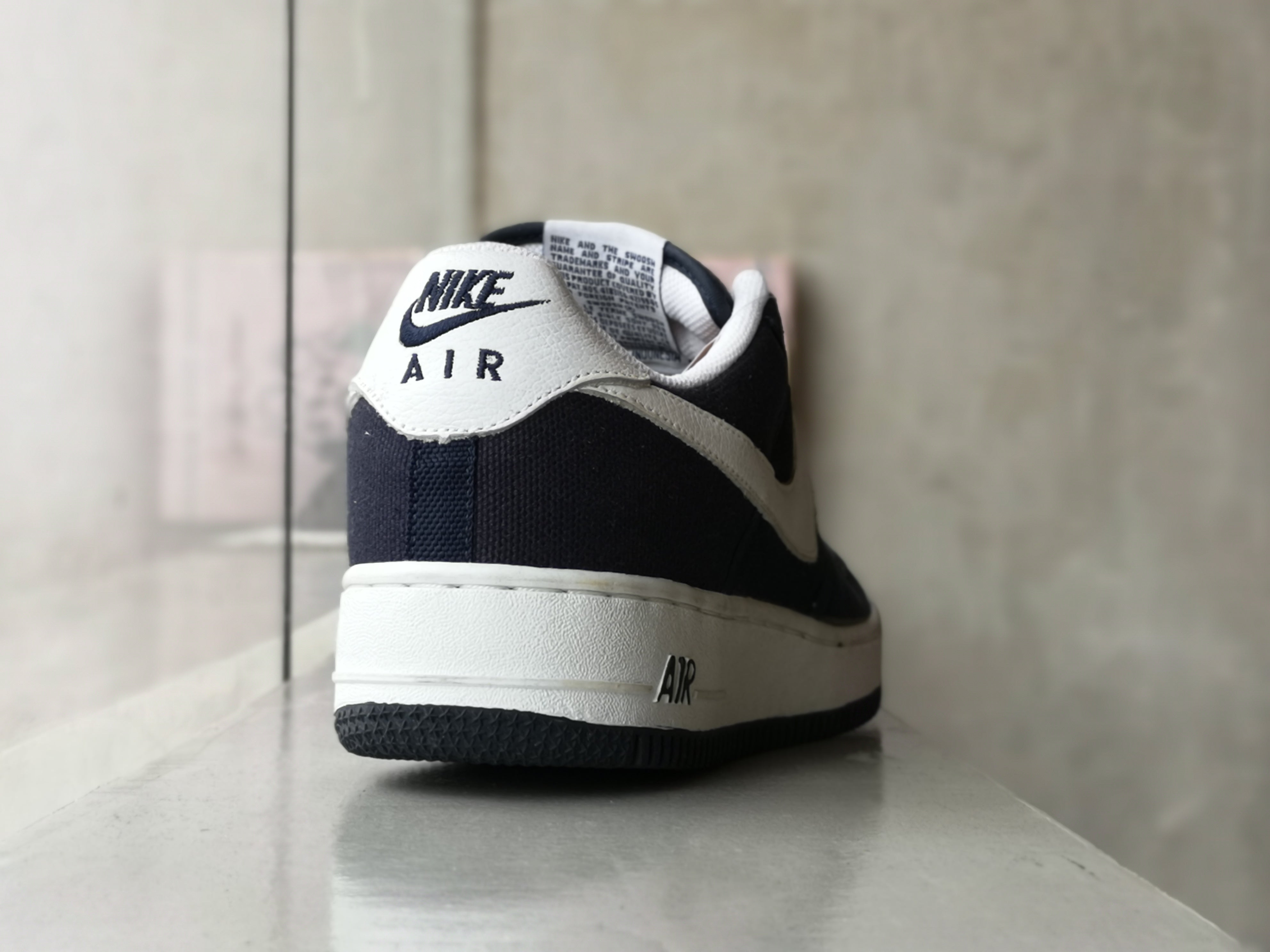 Nike Airforce 1 Low Navy Blue Canvas 2002