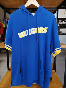 Mitchell & Ness GSW NBA DRILLS SHORT SLEEVE HOODIE Webber