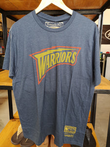 Mitchell & Ness GSW Shirt Pushed Wordmark/Navy Heather