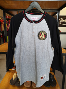Mitchell & Ness Atlanta United FC 3/4 Buttoned Sleeve/Gray